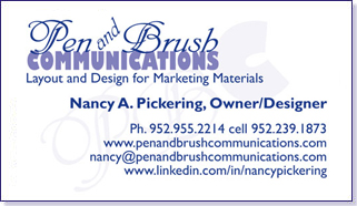 Pen and Brush Communications Business Card