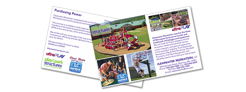 Clearwater Recreation Direct Mail Postcard